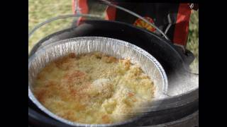 Camp Oven Macaroni Cheese Bake
