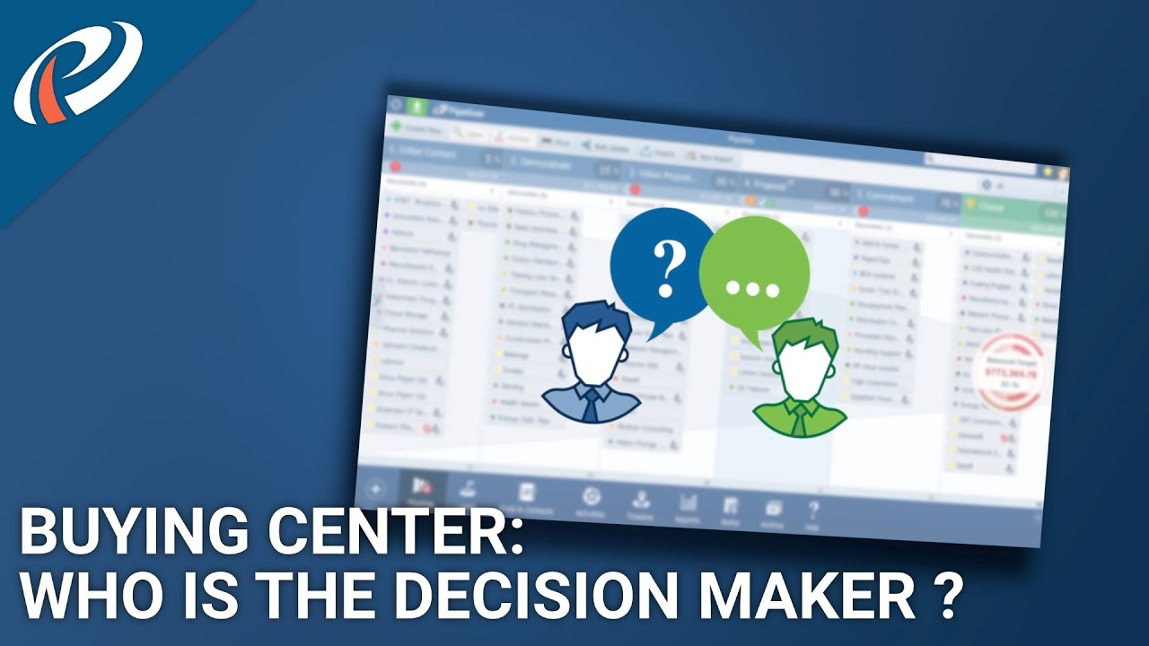 Buying Center  Who Is Decision    Maker    And Who Naysayer For This Deal   YouTube