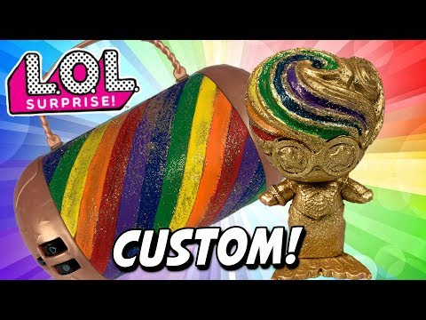 LOL Surprise Under Wraps Wave 2  🌈 Rainbow Glitterati! LOL Dolls Series 4 Custom LOL Surprise Dolls