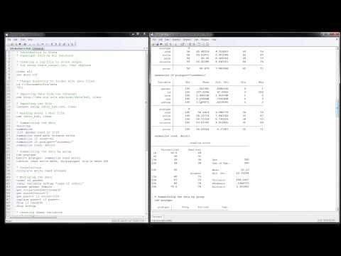 Stata Tutorial: Introduction to Stata