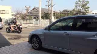 女性ライダー Mitsubishi Racing VIII Lancer Evolution HKS ランサーエ...