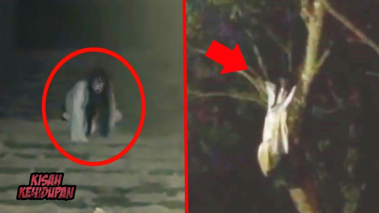 Kuntilanak Merangkak dan Muncul di Atas Pohon..! 4 Penampakan Hantu Terjelas yang Menyeramkan