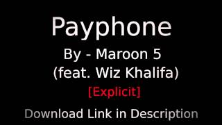 [Free Download] Payphone - Maroon 5 (feat. Wz Khalifa) [HD]