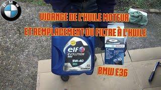 Vidange de l'huile moteur et remplacement du filtre à huile - [BMW E36]