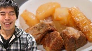 圧力鍋で作るふわとろ角煮 Japanese style Simmered Pork thumbnail