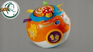 Play with VTech Move and Crawl Baby Ball, Orange