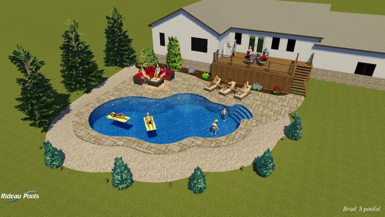 20x24x40 lagoon shaped pool design by rideau pools ottawa for Pool design ottawa