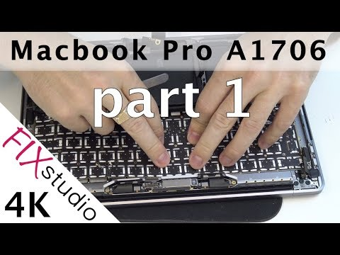 Macbook Pro A1706  - keyboard replacement part 1 [4K]