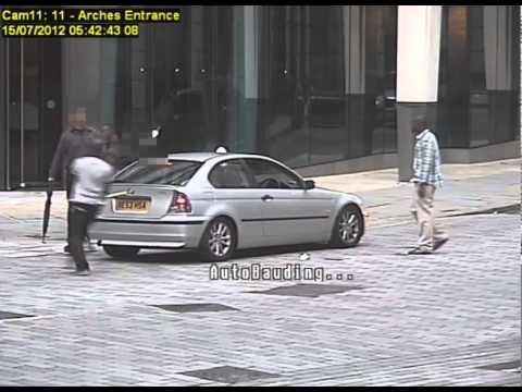 Shocking CCTV footage of Gresham Street, City of London, attack