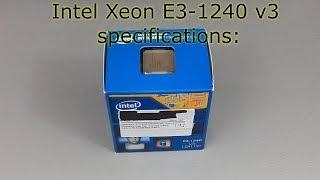 UNBOXING Intel Xeon 1240 v 3
