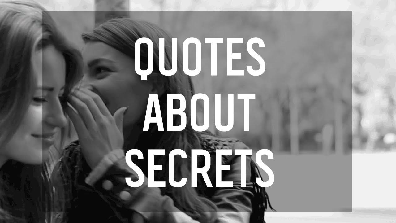 7 Quotes About Secrets