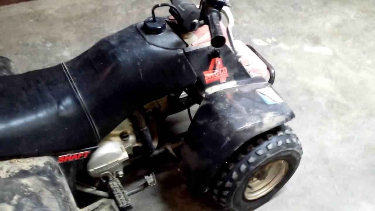 1986 yamaha badger moto4 yfm80 youtube for Yamaha badger 80 tires