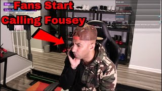 FouseyTUBE gets TRIGGERED when fans start calling him LIVE on stream