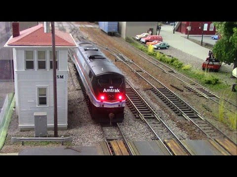 HO Scale OPS: Trouble on Amtrak's MI2 Runner