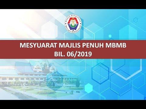 Mesyuarat Majlis Penuh MBMB Bil. 06/2019