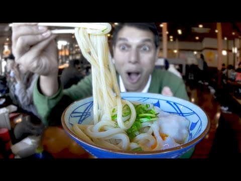 Udon Noodle Eating Spree & Tempura Binge ★ ONLY in JAPAN