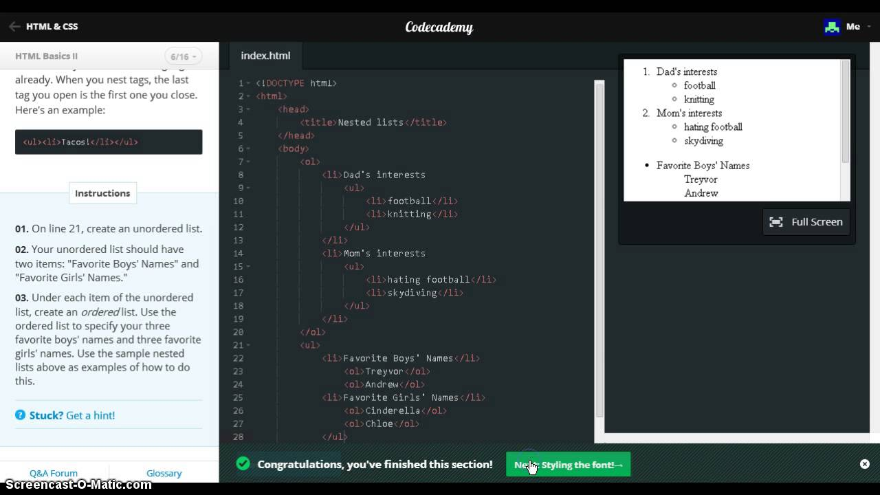 Line Drawing In Html : Html basics 2 codecademy youtube