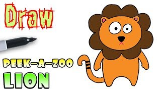 How to Draw a Lion | Peek-A-Zoo