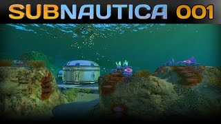 Subnautica [001] [Abgestürzt und überlebt] [Let's Play Gameplay Deutsch German] thumbnail