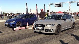 Volkswagen Golf 7 R vs Audi RS6 C7 Avant