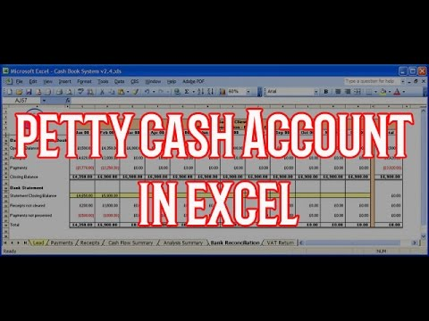 How to create Petty Cash Account with excel - YouTube