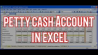 How to create Petty Cash Account with excel