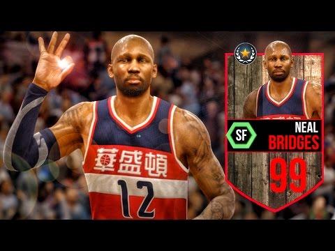 99 LEGEND NEAL BRIDGES! NBA Live 16 Rising Star Gameplay Ep. 5