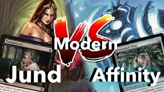 MTG Modern versus Jund vs Affinity Magic: The Gathering wincondition мтг модерн версус