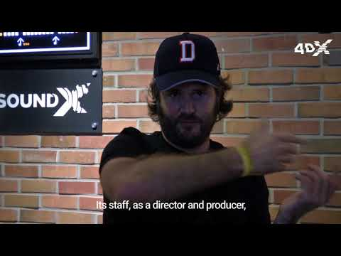 Director Jonathan Liebesman's visit at the 4DX theater