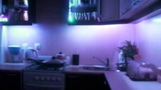 Подсветка интерьера. лента LED RGB. коплект(Применение подсветки в интерьере., 2013-04-07T17:19:42.000Z)