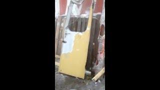 Очистка от краски двери