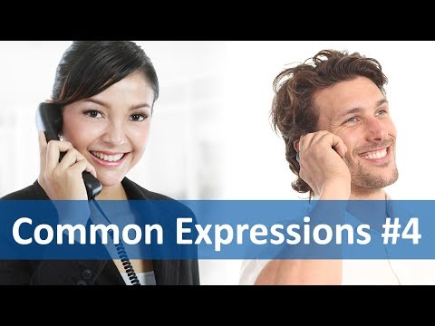 Common Expressions #4 (Telephoning) | English Listening & Speaking Practice - Anglo-Link  - YMxA4Q94qao -