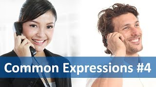 Repeat youtube video Common Expressions #4 (Telephoning) | English Listening & Speaking Practice
