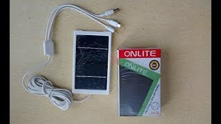 Onlite Solar Panel for Mobile Phone charging ! unboxing ! reviews