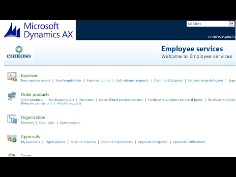 Microsoft Dynamics AX 2012 - Purchase Requisition - Employee Self-Service Tutorial