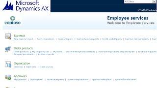 Microsoft Dynamics AX 2012 - demande d'Achat - Employés de libre-Service Tutoriel