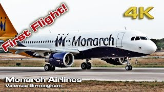 Monarch Birmingham Inaugural Flight to Valencia! [4K]