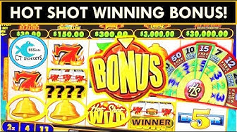 WINNING AT FOXWOODS! HOT SHOT PROGRESSIVES SLOT MACHINE & MORE!