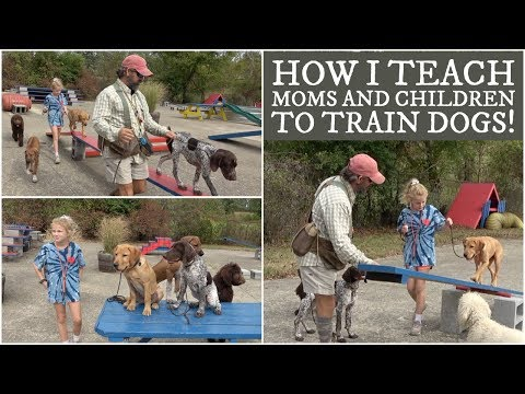 How I teach Moms and Children to Train Dogs!
