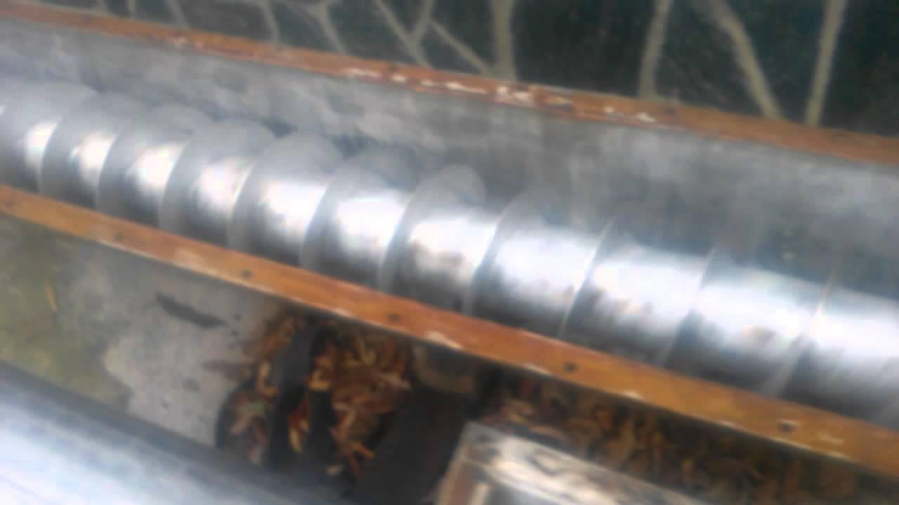 foerderschnecke schraubenfoerderer inox screw auger youtube