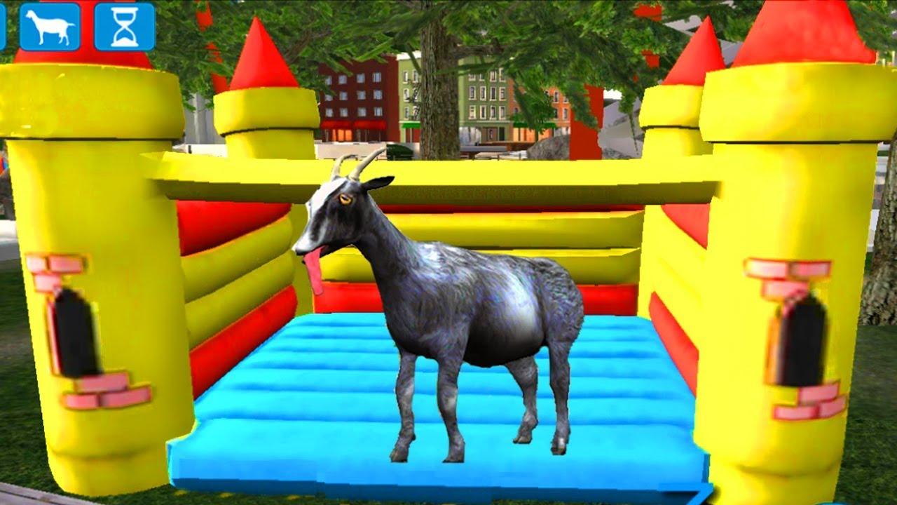 Играем в СИМУЛЯТОР КОЗЛА 🐂🐂🐂  #1 Козел в парке аттракционов мульт-игра развлекательное видео