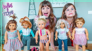 Kate & Lilly have a Fashion Show with American Girl Dolls!