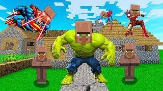 НУБ НАШЕЛ ДЕРЕВНЮ СУПЕРГЕРОЕВ В Майнкрафте! Minecraft Мультики Майнкрафт троллинг Нуб и Про