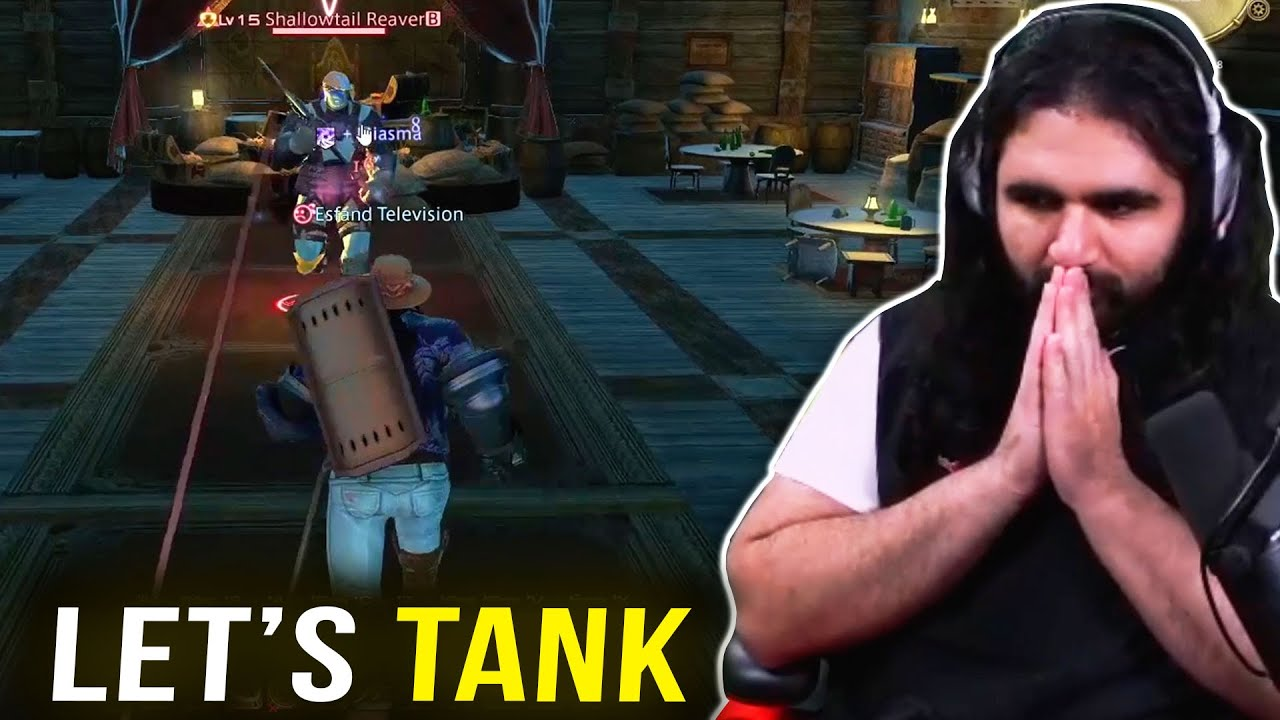 TANKING GOD ESFAND Shows Off in his first Final Fantasy 14 Dungeon