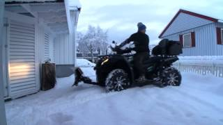 CFMOTO CForce 450L ATV | Snow Plowing | Norway
