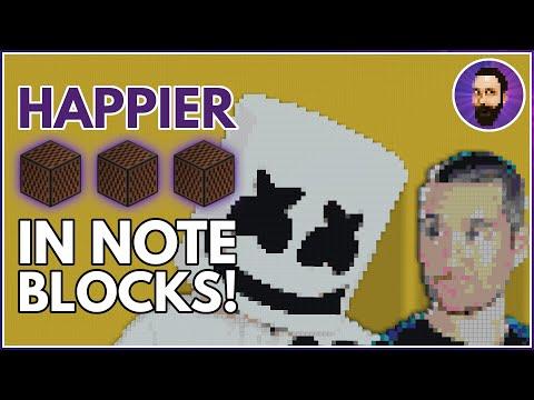 Marshmello ft. Bastille - Happier | Minecraft Note Block Song