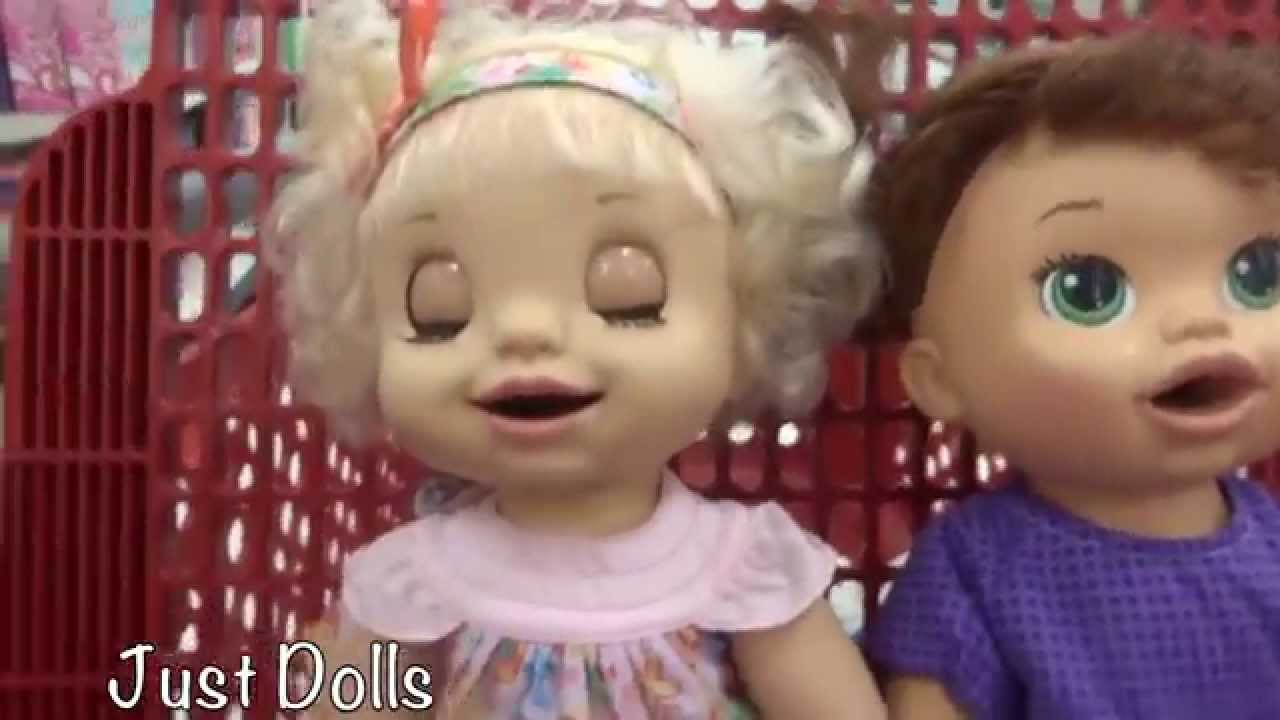 BABY ALIVE Haul At Target With Cousin Ruby Snow - YouTube