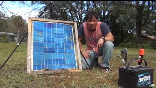 DIY Solar Panel Broken Glass Milwaukee 2239-20 M12 Clamp-Gun