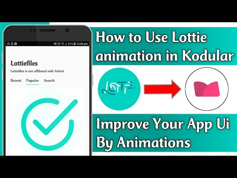 How to use Lottie animation in Kodular/Makeroid || Improve Your app by  animations || Tech Developer