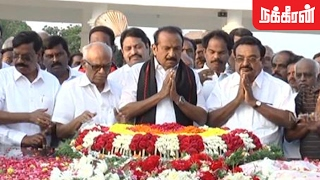 Vaiko Pays Tribute To Anna On His Death Anniversary